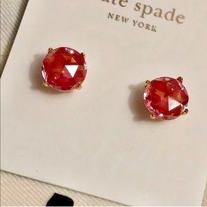 Kate Spade Red Gem Gumdrop Earrings